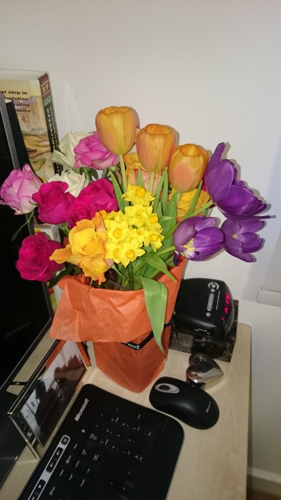 The other beautiful flowers that my mum sent my up to surprise me!
